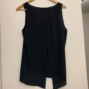 Express Tops - Express black lower back slit top small